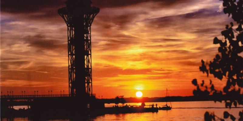 Sunset at Dobbins Landing