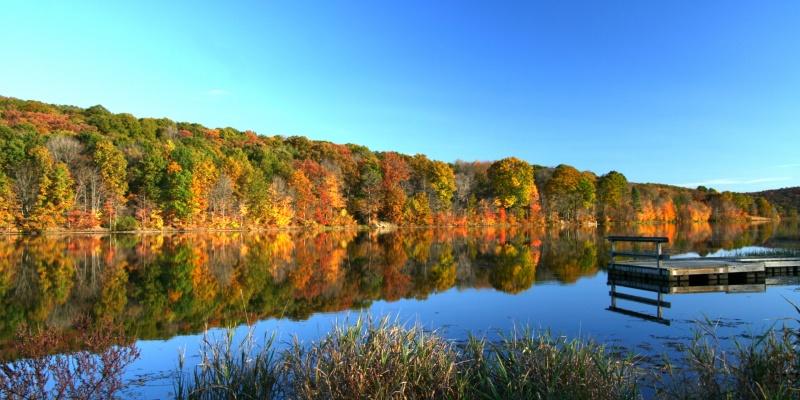TWO MILE -- Justus Lake Fall Reflection