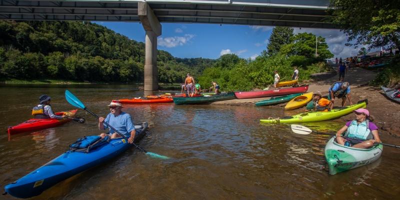 VENANGO COUNTY -- Canoe trip on Allegheny in Emlenton 4